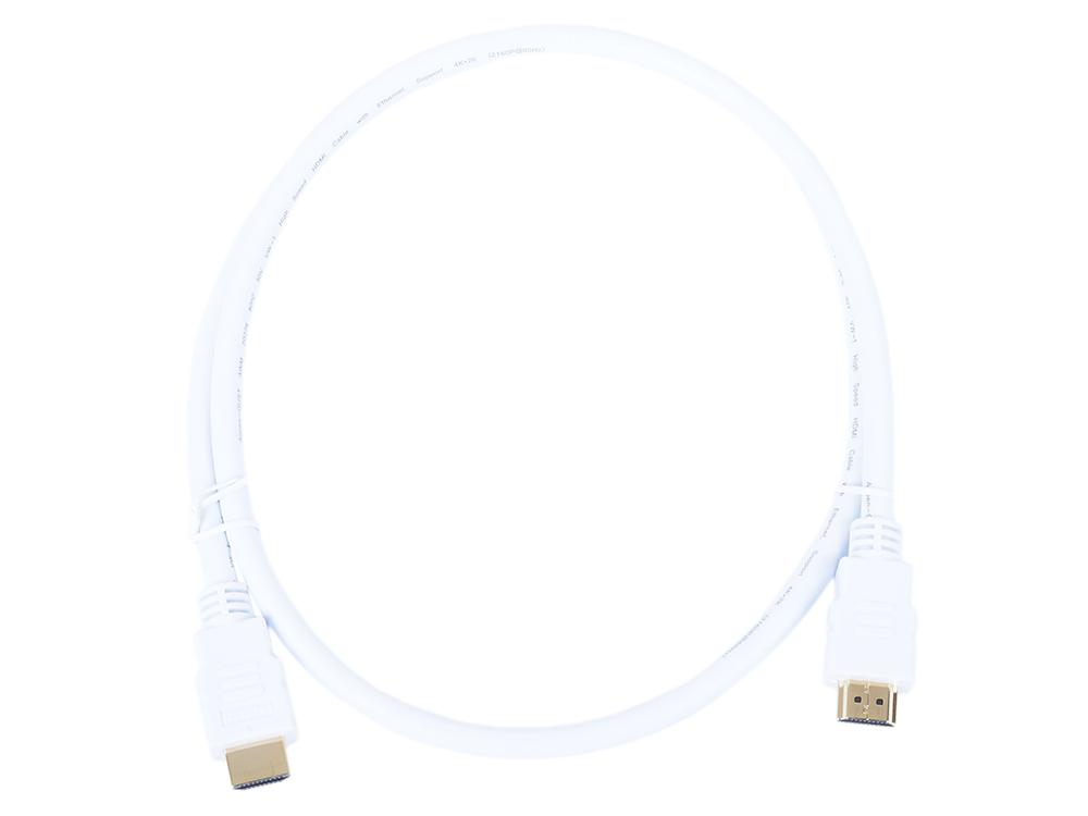 Картинка для Кабель HDMI 19M/M ver 2.0, 1М, белый  Aopen (ACG711W-1M)