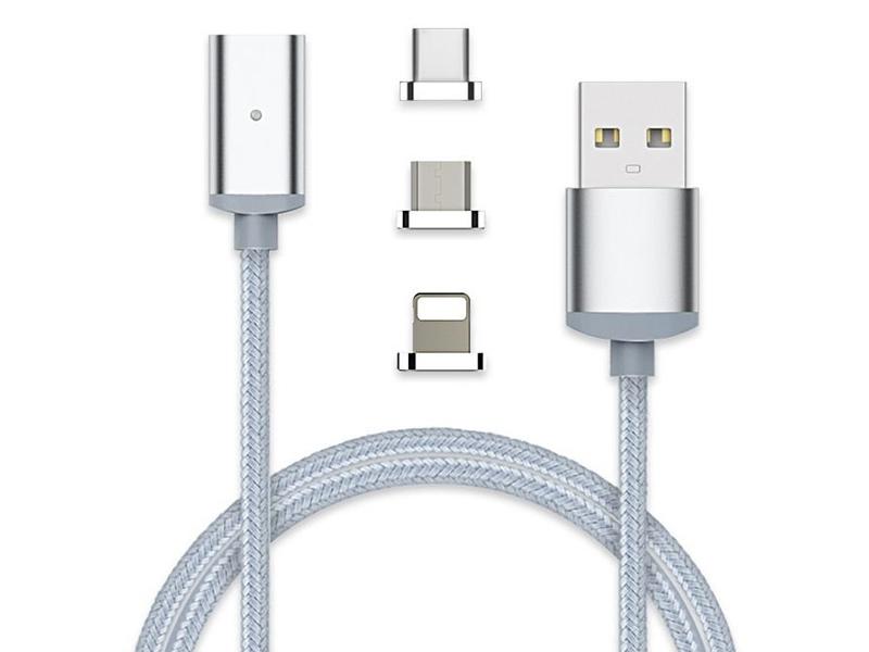 Кабель 3 в 1 USB2.0 Am --> Lighting+micro-B 5P+TypeC 1м с магнитным адаптером, LED VCOM lcd crt аксессуары b320 b325 m215hw03 v 1 m215hw01v b led