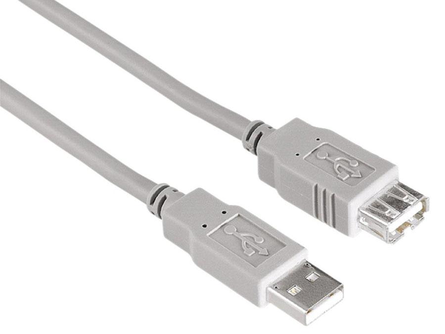 Кабель Hama 00134296 USB A(m)-USB A (f) серый 1.8м ганг сумка viviana 3х26х37 см