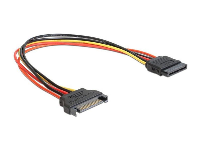 Cablexpert Удлинитель кабеля питания SATA 15pin(M)/15pin(F), 30см (CC-SATAMF-01) удлинитель кабеля питания материнской платы 24m 24f 20см telecom