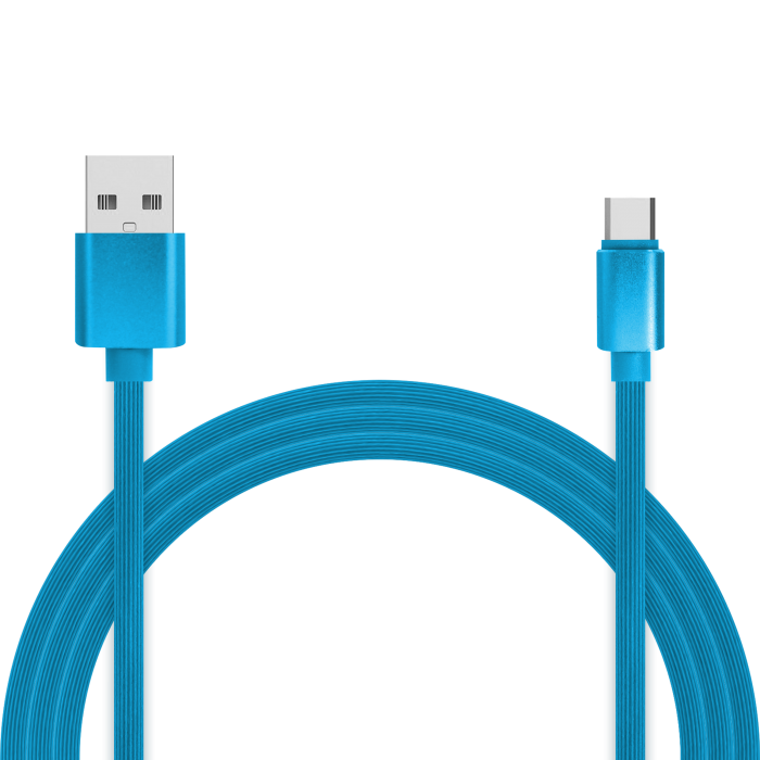 Кабель для зарядки и передачи данных Jet.A JA-DC34 1м синий (TPE, USB2.0/USB Type C, QC 3.0, 2A) кабель данных apple iphone7 6s 8 plus ipad кабель для зарядки кабель usb кабель для передачи данных кабель кабель для передачи данных кабель для зарядки