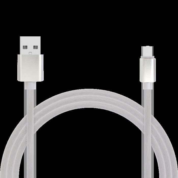 Кабель для зарядки и передачи данных Jet.A JA-DC34 1м белый (TPE, USB2.0/USB Type C, QC 3.0, 2A) кабель lightning 1м wiiix круглый cb120 u8 10b