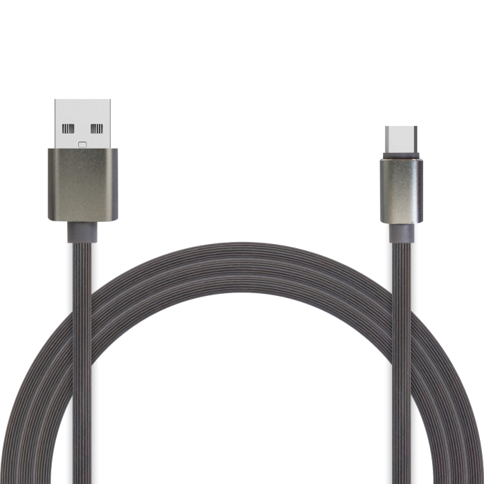 Кабель для зарядки и передачи данных Jet.A JA-DC34 2м серый (TPE, USB2.0/USB Type C, QC 3.0, 2A) 50pcs micro usb 3 0 male to usb c usb 3 1 type c female extension data cable for macbook tablet 10cm by fedex