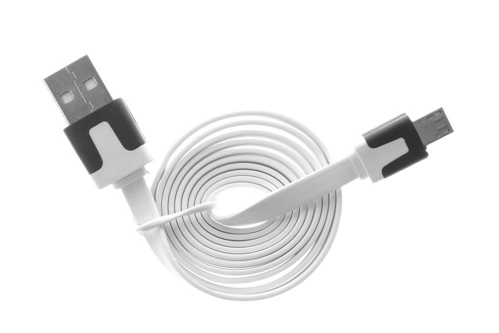 Кабель USB OLTO ACCZ-3015 White USB - microUSB; Длина: 1м кабель samsung usb microusb apcbu10bbecstd