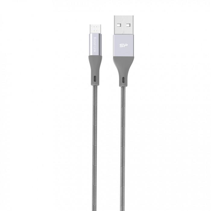 Кабель Silicon Power microUSB-USB для зарядки и синхронизации 1м, нейлон, Gray рюкзак городской нейлон power in eavas 9065 blue в киеве