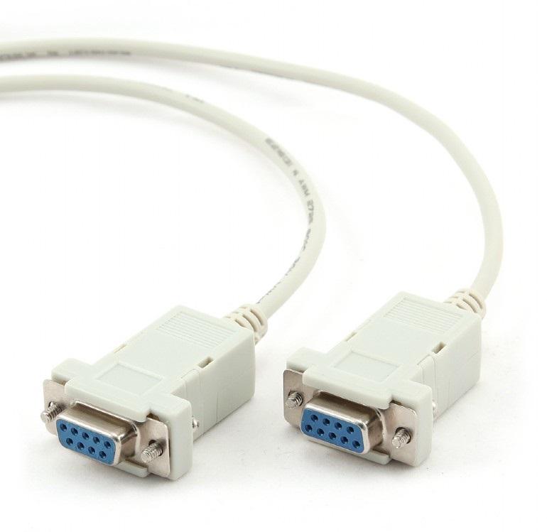 Кабель 0-модемный Gembird CC-134-6, 9F/9F, 1.8м, пакет кабель удлинитель com порта gembird cc 133 6 9m 9f 1 8м