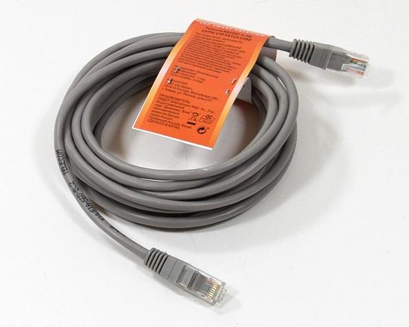 Патч-корд литой медный Telecom NA200-5M UTP кат.5е 5м серый tonymoly корректирующий патч для тела trust me body taping patch 5см 5м