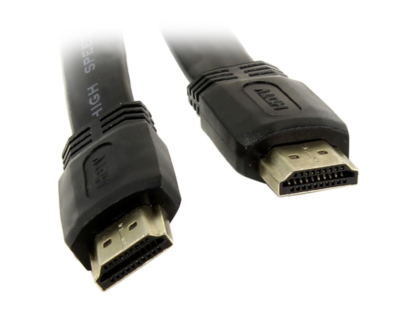 Кабель HDMI 19M/M 1.4V плоский 5 м TV-COM CG200F-5M цена