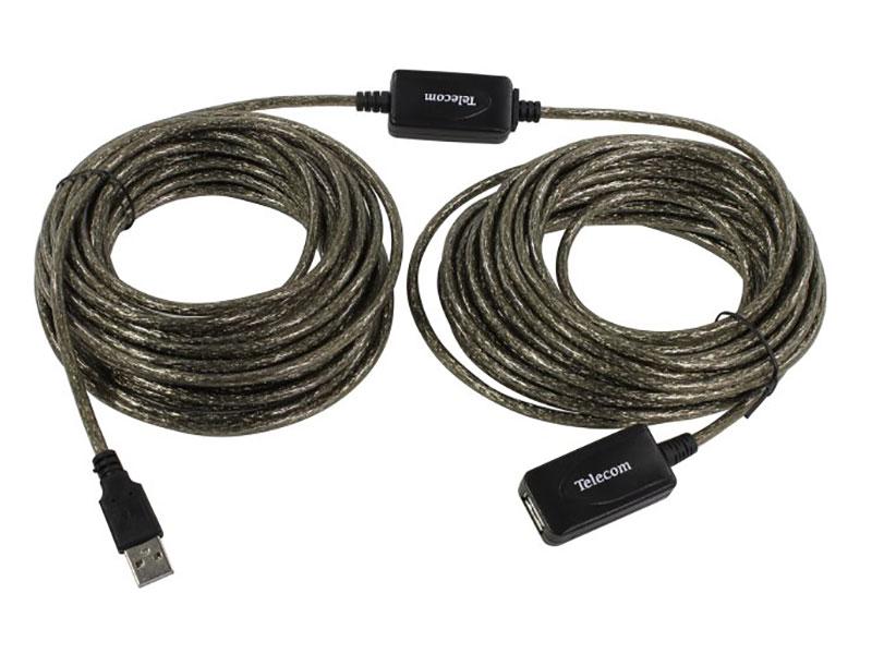 Кабель USB2.0-repeater, удлинительный активный Af> 15м, Telecom кабель для монитора vga 15m 15m 15 0 метров cablexpert