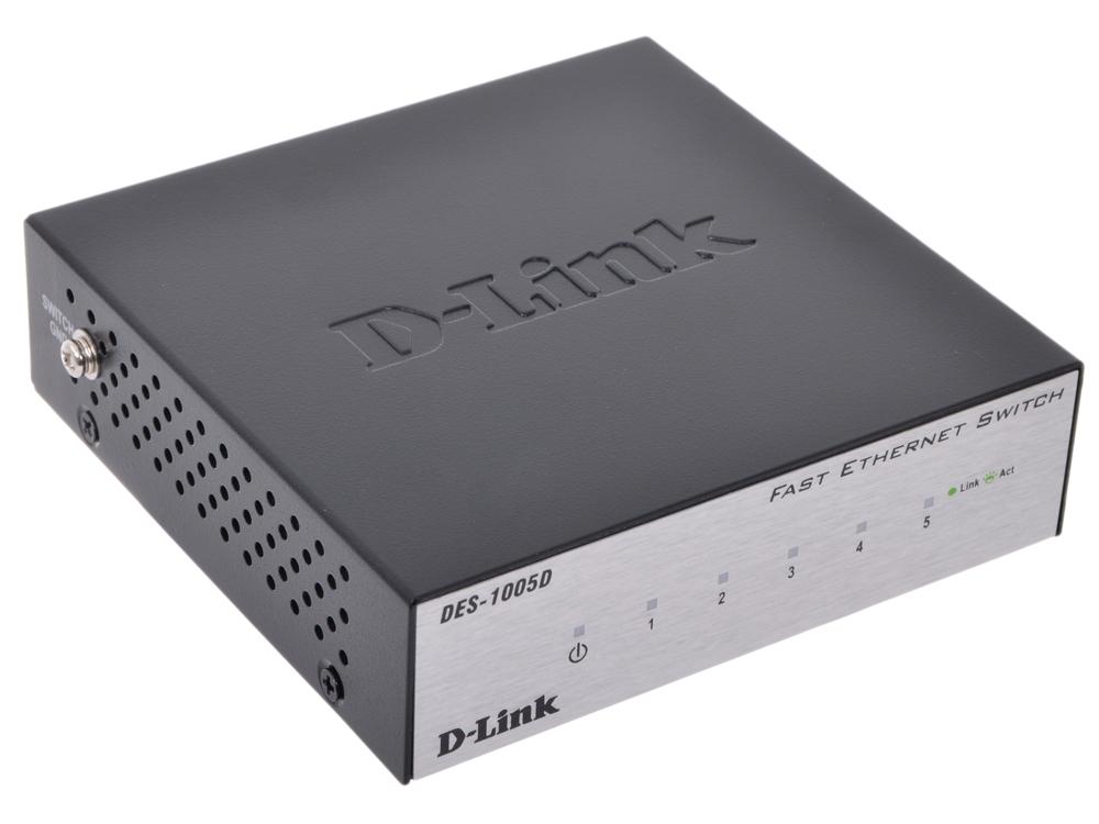 Картинка для Коммутатор D-Link Switch DES-1005D Коммутатор с 5 портами 10/100Base-TX