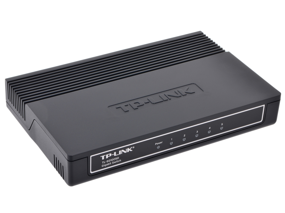 Коммутатор TP-LINK TL-SG1005D 5-port Gigabit Switch, plastic case