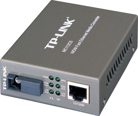 Медиаконвертер TP-LINK MC112CS WDM медиаконвертер Fast Ethernet принт сервер tp link tl ps110p single parallel port fast ethernet print server
