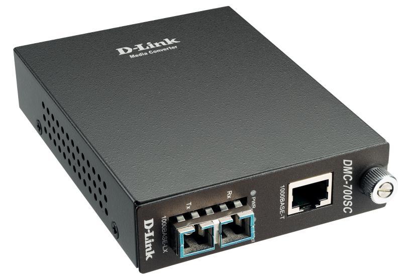 Медиаконвертер D-Link DMC-700SC Медиаконвертер 1000BASE-T по витой паре в 1000BASE-SX по многомодовому волокну (550м, SC) все цены