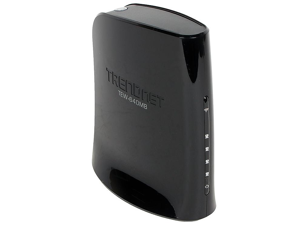 Маршрутизатор Trendnet TEW-640MB беспроводной 802.11n/2.4GHz/300 Mbps беспроводной маршрутизатор trendnet tew 640mb 802 11n 300 mbps 2 4 ггц 4xlan