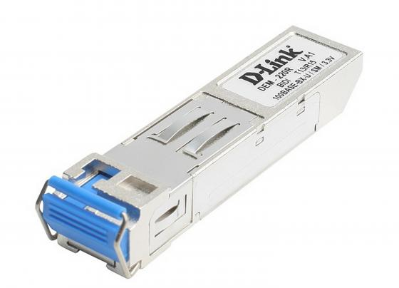Модуль D-Link DEM-220R Двунаправленный SFP-трансивер Fast Ethernet для оптического кабеля (Tx: 1310нм, Rx: 1550 нм) трансивер сетевой d link 100base fx single mode 15km sfp transceiver 10 pack dem 210 10 b1a