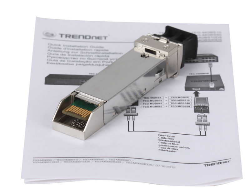 Модуль Trendnet TEG-MGBS10 Одномодовый модуль Mini-GBIC, тип LC (10 Км)