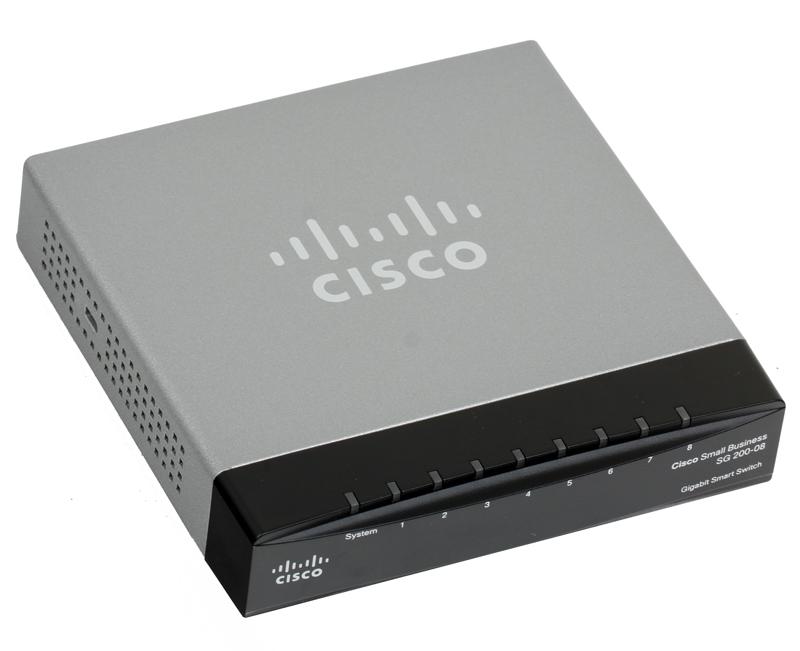 Коммутатор Cisco SLM2008T-EU SB SG 200-08 8-портовый коммутатор Gigabit Smart Switch