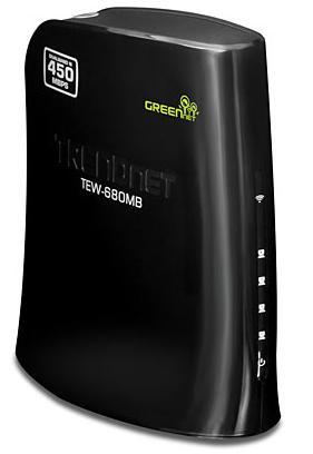Беспроводная точка доступа Trendnet TEW-680MB  Четырехпортовый Wi-Fi медиамост стандарта 802.11  Dual Band N 450Мбит/с для игровых консолей, телевизоров и др.