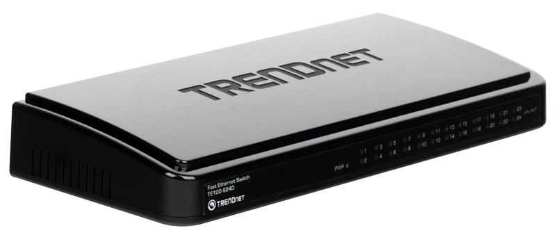 Коммутатор Trendnet TE100-S24D 24-портовый коммутатор 10/100 Мбит/с коммутатор 12pcs 90c ac250v 10
