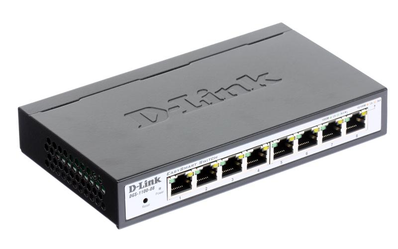 Коммутатор D-Link Switch DGS-1100-08 Управляемый компактный коммутатор EasySmart с 8 портами коммутатор jiaqifa ec16 3 pin 15 encoder mouse scroll wheel encoder switch accessories