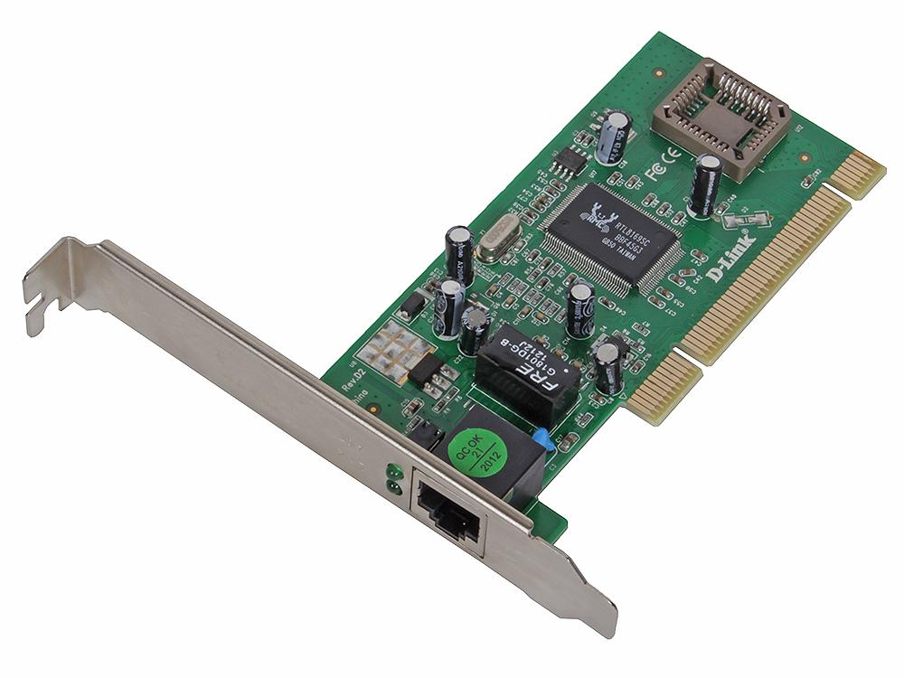 Сетевой адаптер D-Link DGE-530T/10/D2C Сетевой PCI-адаптер с 1 портом 10/100/1000Base-T (10шт. в коробке с одинм комплектом драйверов) сетевой накопитель d link dns 346 e
