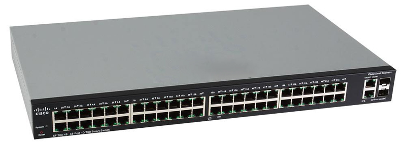 Коммутатор Cisco SLM248GT-EU SF 200-48 48-портовый коммутатор 48-Port 10/100 Smart Switch cnskou eu standard 1gang 2way wall touch switches 1gang 2way electronic smart switch gold crystal glass panel manufacturer