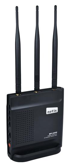 Маршрутизатор netis WF2409E Беспроводной 802.11n/g/b, 300Mbps, 2.4GHz, 3x5dBi MIMO внеш.антенны