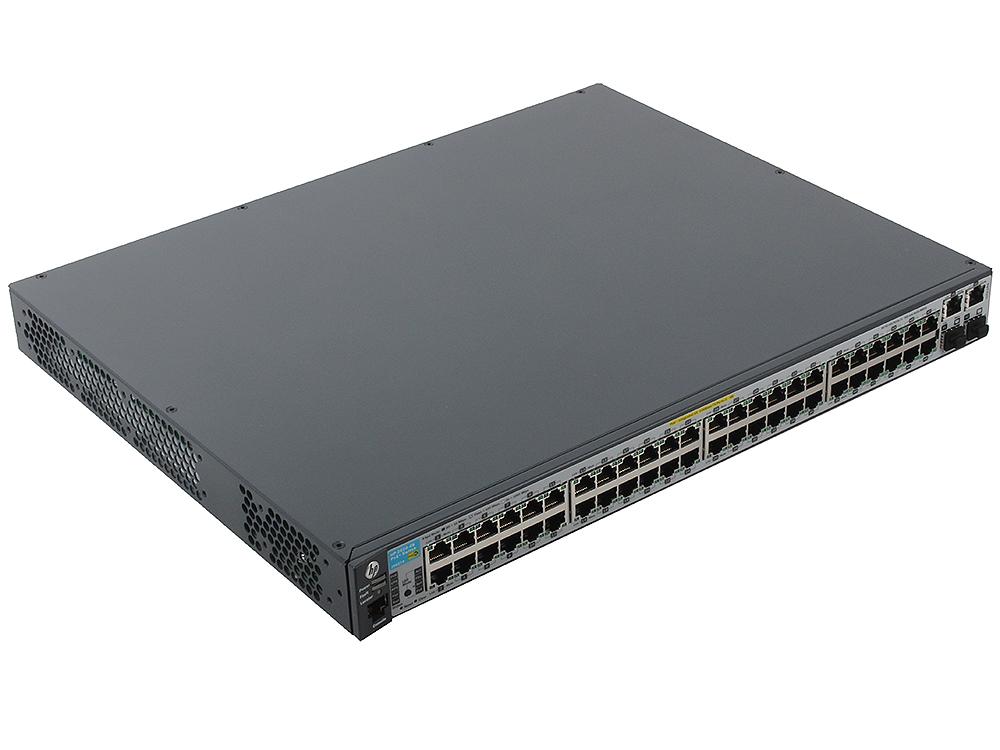 Коммутатор HP 2620-48-PoE+ (J9627A) Управляемый коммутатор с 48 портами 10/100 с поддержкой технологии PoE, 2 разъема 10/100/1000, 2 отсека mini-GBIC коммутатор hp 1820 24g poe j9983a