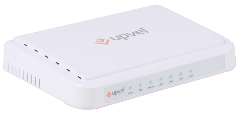 Модем UPVEL UR-104AN ADSL2+ роутер с 4 портами Ethernet 10/100 Мбит/с с поддержкой IP-TV