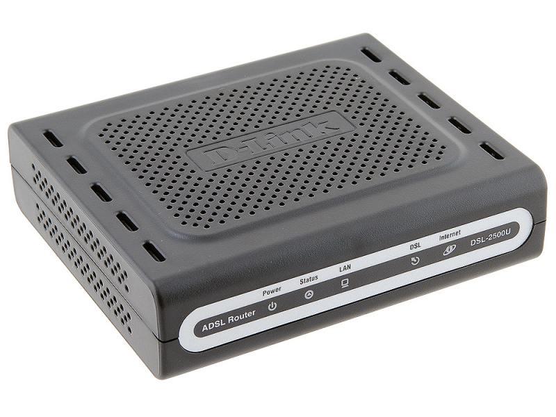 Маршрутизатор D-Link DSL-2500U/BA/D4C Маршрутизатор ADSL/ ADSL2/ ADSL 2+