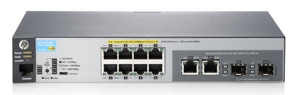 Коммутатор HP 2530-8G-PoE+ (J9774A) Управляемый коммутатор Layer 2 с 8 портами 10/100/1000 PoE+ и 2 портами двойного назначения коммутатор hp e1910 8 poe управляемый 8 портов 10 100mbps poe jg537a