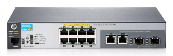 Коммутатор HP 2530-8-PoE+ (J9780A) Управляемый коммутатор 2-го уровня с 8 портами 10/100 PoE+ и 2 портами двойного назначения коммутатор hp 1820 24g poe j9983a