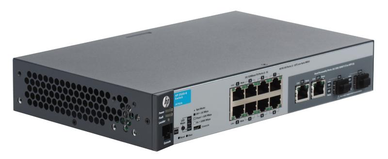 Коммутатор HP 2530-8 (J9783A) Управляемый коммутатор 2-го уровня с 8 портами 10/100 и 2 портами двойного назначения. коммутатор hp 2530 48g poe j9772a управляемый коммутатор 2 го уровня с 48 портами 10 100 1000 poe и 4 слотами gbe sfp