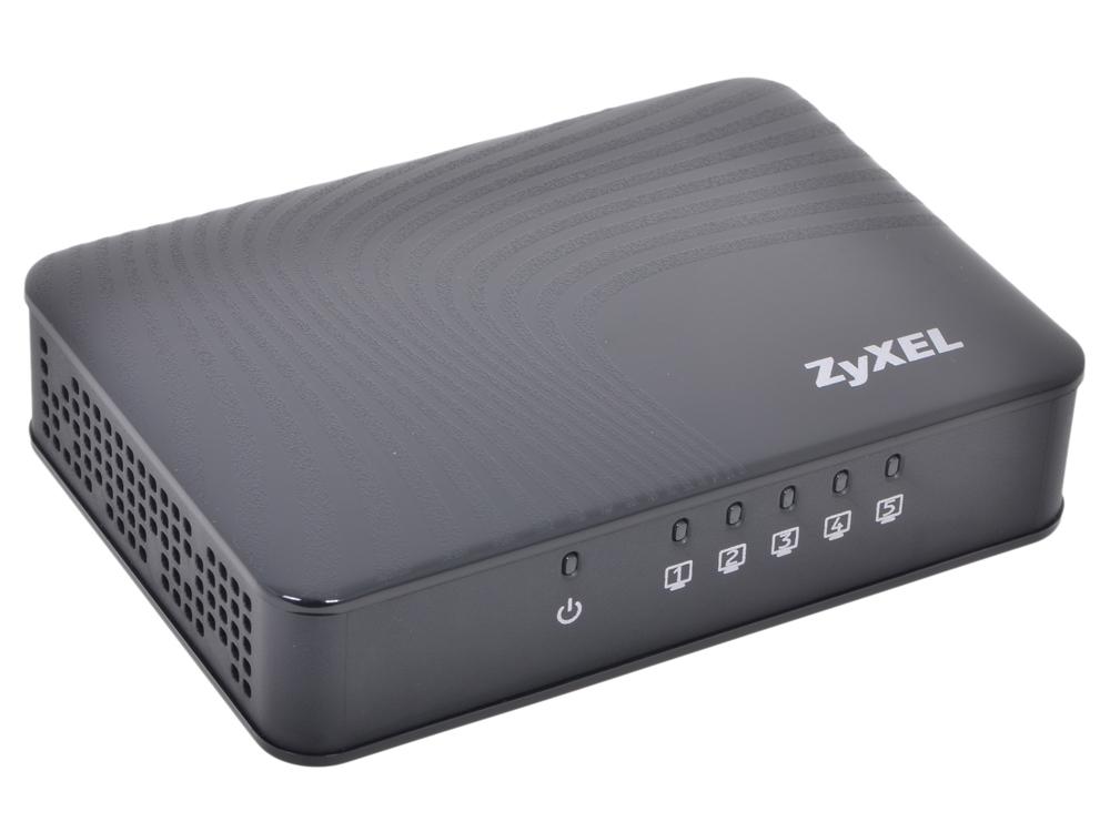 Коммутатор ZyXEL GS-105S EE Пятипортовый коммутатор Gigabit Ethernet с приоритетными портами коммутатор zyxel gs2210 8hp eu0101f