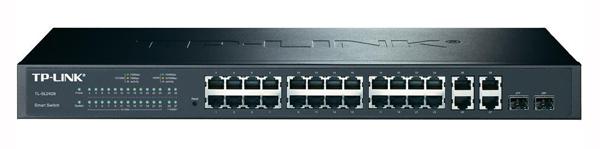 Коммутатор TP-LINK TL-SL2428 Smart коммутатор на 24 порта 10/100 Мбит/с и 4 гигабитных порта коммутатор tp link t1500 28pct smart коммутатор poe на 24 порта 10 100 мбит с и 4 гигабитных порта