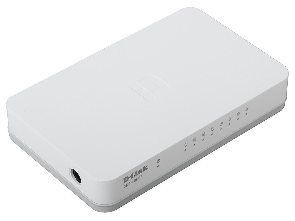 Коммутатор D-Link DGS-1008A/C1A Layer 2 unmanaged Gigabit Switch 8 x 10/100/1000 Mbps Ethernet ports коммутатор d link 8 ports 10 100 mbps poe 8 ports 10 100 mbps 2 10 100 1000base t sfp combo ports unmanaged switch