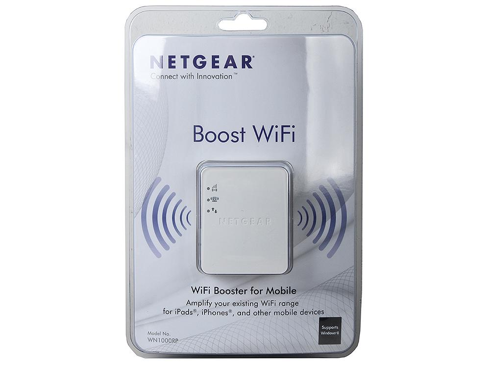 Универсальный повторитель беспроводного сигнала WN1000RP-100PES 802.11b/g/n 150 Мбит/с (без LAN портов) в компактном исполнении для
