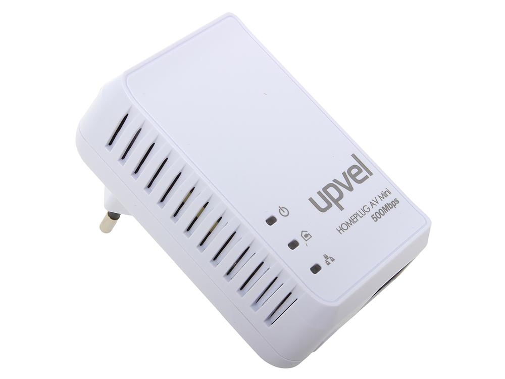 PowerLine адаптер UPVEL UA-251P PowerLine адаптер HomePlug AV 500 Мбит/с с поддержкой IP-TV, 1 LAN порт