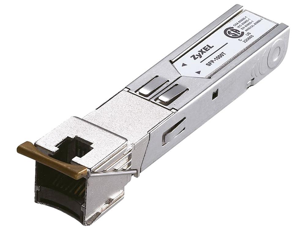 Трансивер ZyXEL SFP-1000T SFP-трансивер с портом Gigabit Ethernet трансивер intel ethernet sfp sr optics e10gsfpsr 903239