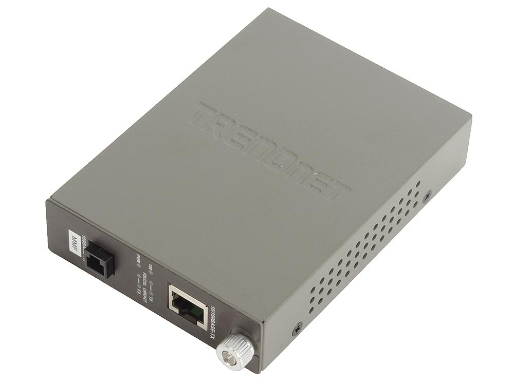 Медиаконвертер TRENDnet TFC-110MM Многомодовый оптоволоконный медиа-конвертер с оптическим портом 100Base-FX разъём MT-RJ, поддерживающим