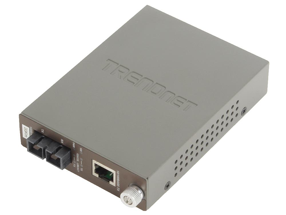 Медиаконвертер TRENDnet TFC-110S30 Одномодовый оптоволоконный медиа-конвертер с оптическим портом 100Base-FX разъём SC, поддерживающим работу на расст конвертер sc