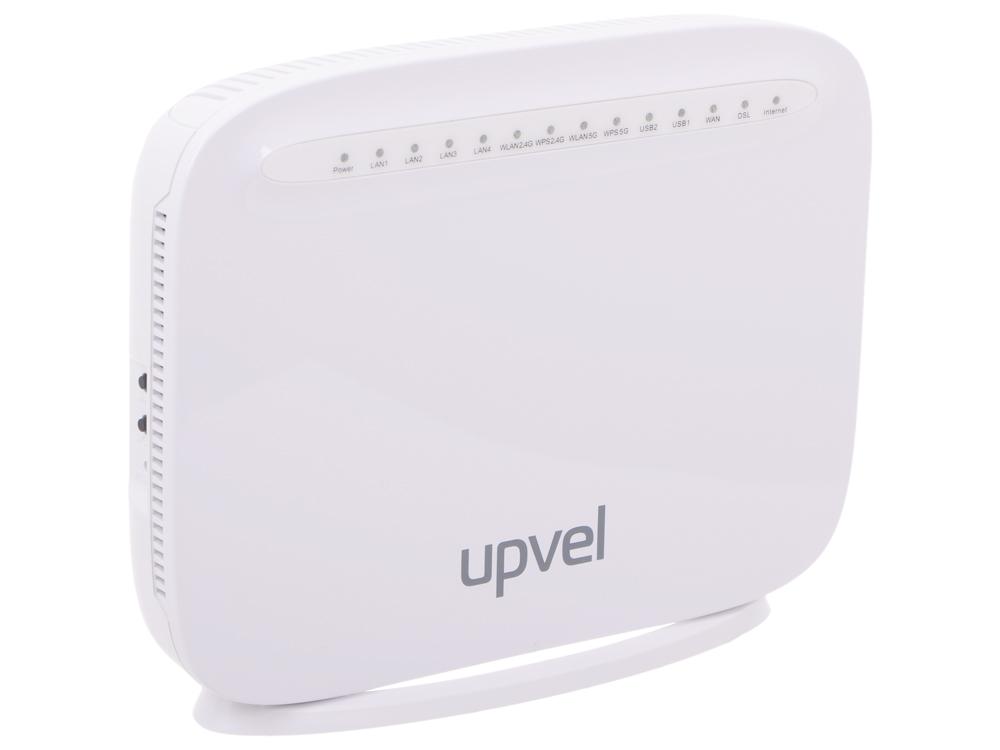 Маршрутизатор UPVEL UR-835VCU 3G/LTE/Ethernet/VDSL2/ADSL2+ двухдиапазонный гигабитный 1600 Мбит/с Wi-Fi роутер 802.11ac, IP-TV, 2 х USB, 5 внтр. ант. по 3 дБи, SAMBA, FTP (VDSL/ADSL сплит