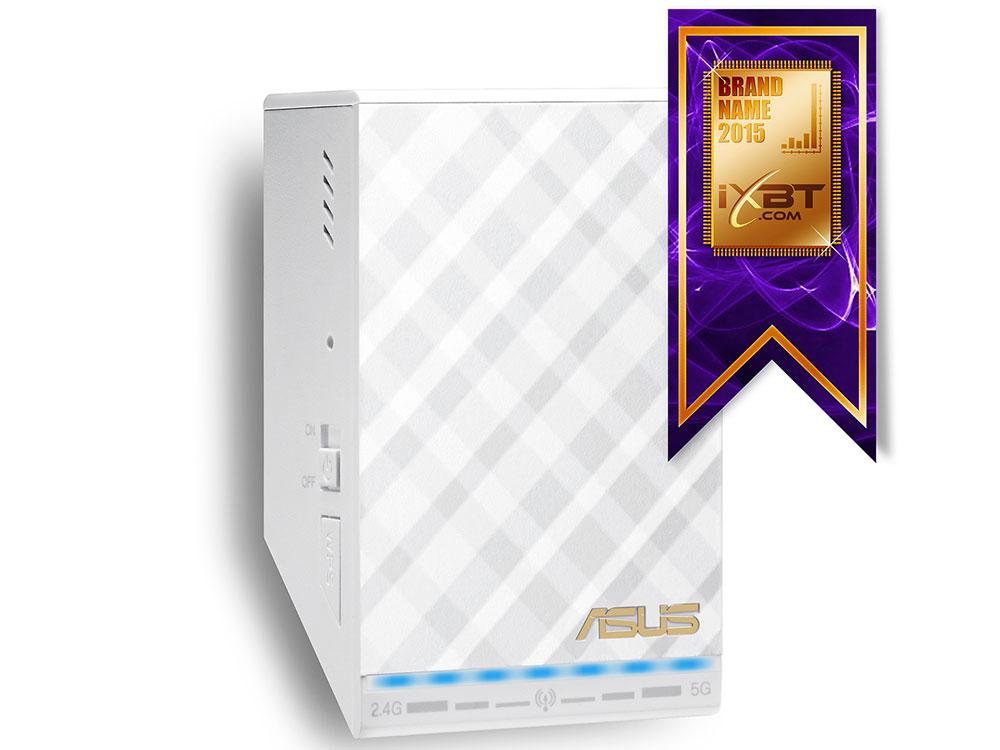 Усилитель Wi-Fi сигнала ASUS RP-AC52 Беспроводной повторитель и точка доступа в одном устройстве