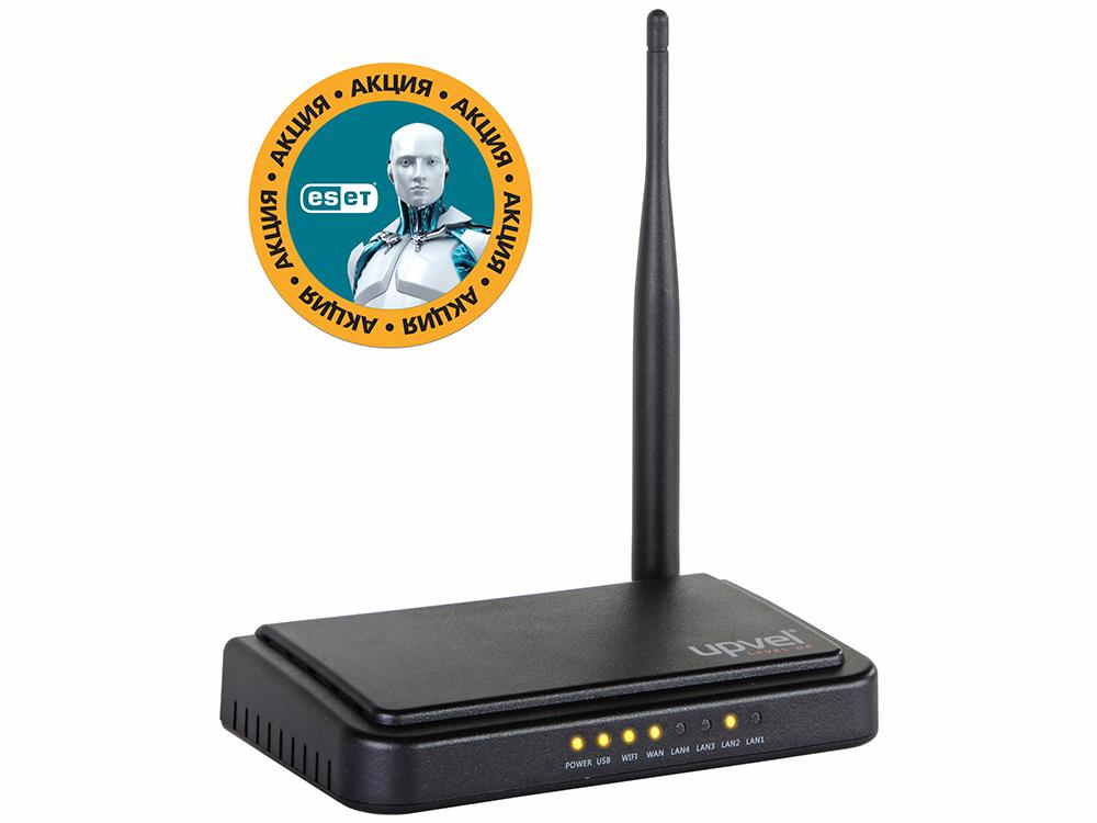 все цены на Маршрутизатор UPVEL UR-309BN Bandle Wi-Fi роутер стандарта 802.11n 150 Мбит/с + Бонус ESET Nod32 Smart Security 3 мес. бесплатно + Карточка на скидк