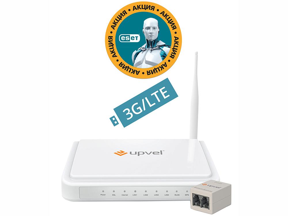 Маршрутизатор UPVEL UR-344AN4G+ bandle Бонус ESET Nod32 Smart Security 3 мес. бесплатно + Карточка на скидку 400 руб цена