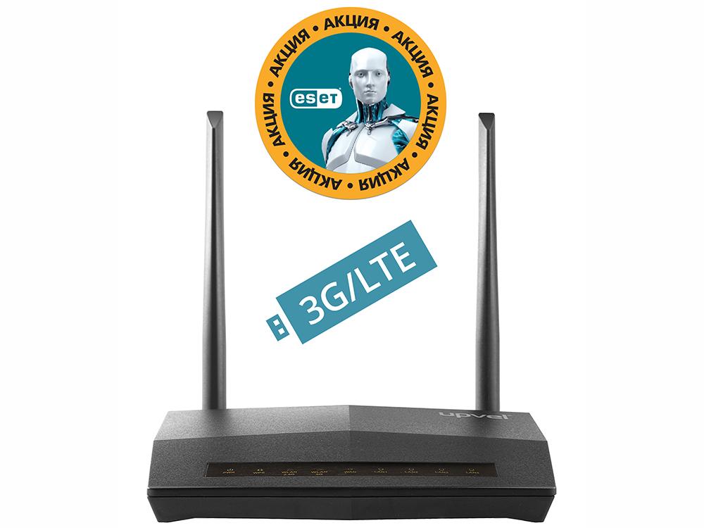 все цены на Маршрутизатор UPVEL UR-447N4G Bandle 3G/4G/LTE ADSL2+/Ethernet Wi-Fi роутер 300 Мбит/с + Бонус ESET Nod32 Smart Security 3 мес. бесплатно + Карточка