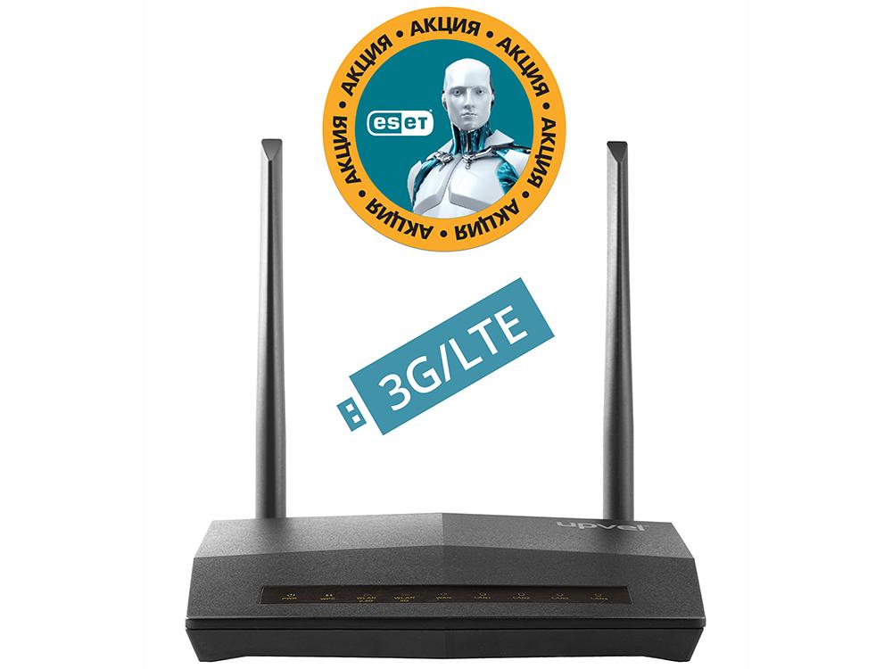 Маршрутизатор UPVEL UR-814AC Bandle Гигабитный двухдиапазонный 3G/4G/LTE Wi-Fi роутер стандарта 802.11ac 750 Мбит/с + Бонус ESET Nod32 Smart Security 3 мес. бесплатно + Кар wi fi роутер upvel ur 344an4g