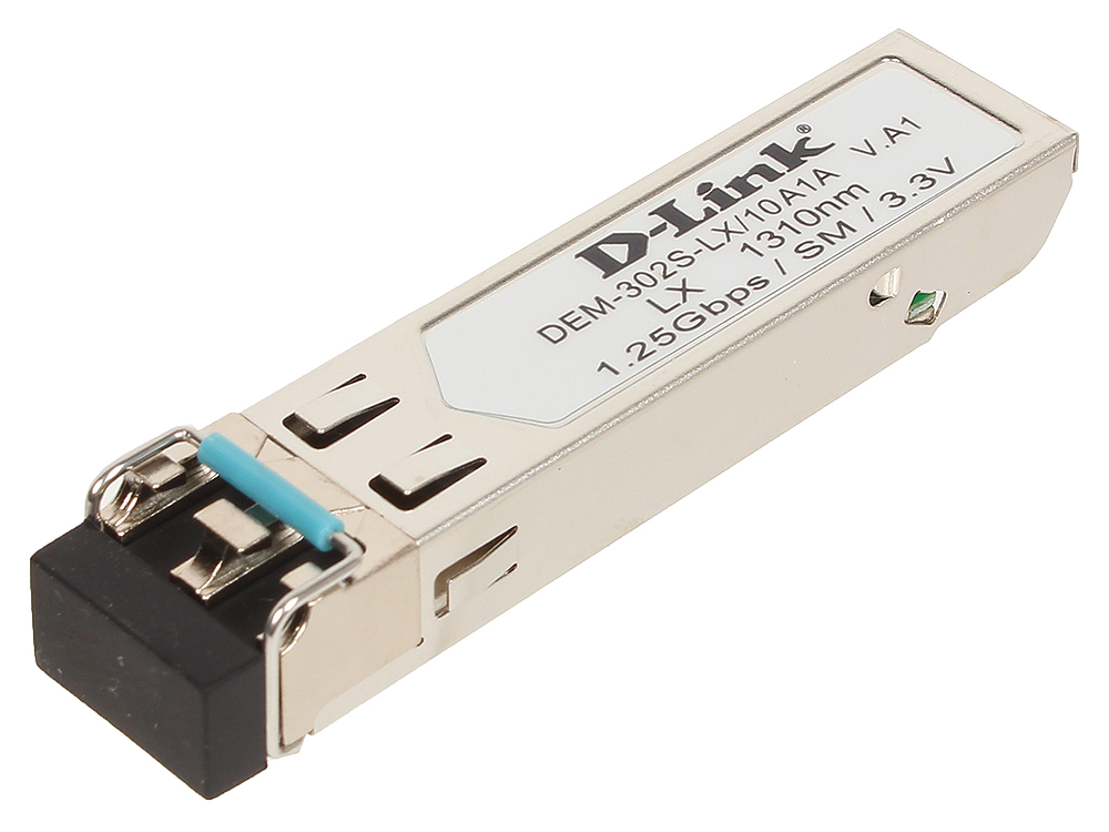 Модуль D-Link DEM-302S-LX/A1A SFP-трансивер с 1 портом 1000Base-LX для одномодового оптического кабеля (до 2 км)