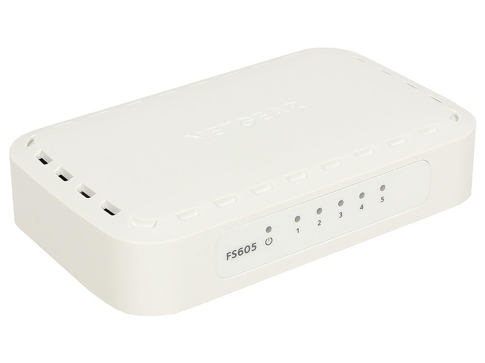 Коммутатор NETGEAR  FS605-400PES Коммутатор на 5 портов 10/100 Мбит/с