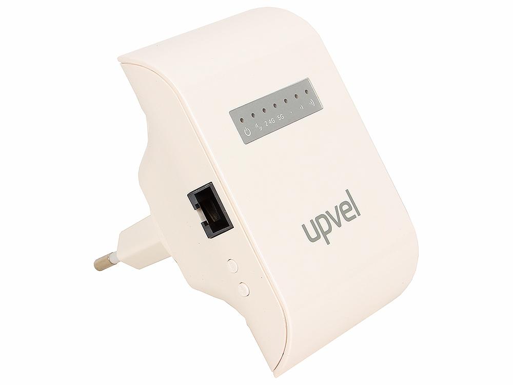 WiFi репитер UPVEL UA-342NR Двухдиапазонный Wi-Fi репитер 802.11ac 750 Мбит/с, работает как Repeater, AP, AP client wi fi адаптер upvel ua 382ac white